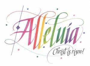 Easter alleluia Christ is risen