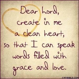 God create in me a clean heart