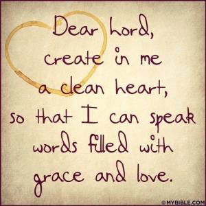God create in me a clean heart