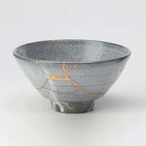 Tea bowl fixed  in the Kintsugi method