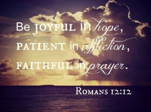 PRAY joyful, faithful in affliction, faithful prayer