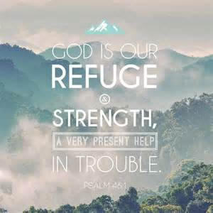 God refuge and strength Ps 46-1