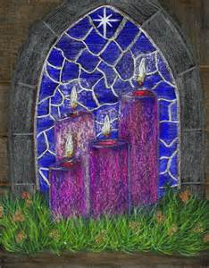 Advent candles star image