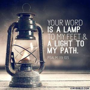 PRAY God's word light to my path PS119