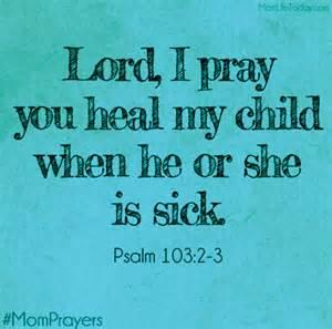 heal my child - pray
