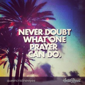 never doubt