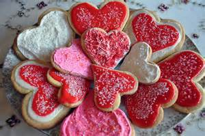 valentine plate of cookies