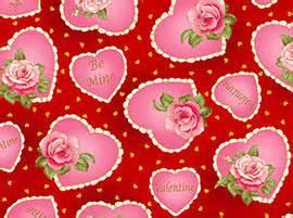 vintage Valentine pink hearts