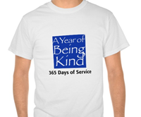 My A Year of Being Kind t-shirt!