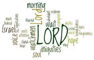 psalm 130 wordcloud