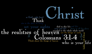 Colossians 3 word cloud