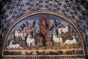Jesus the Good Shepherd mosaic John 10