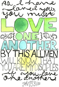 LOVE one another John 13-34