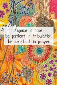 constant in prayer