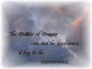 experience prayer