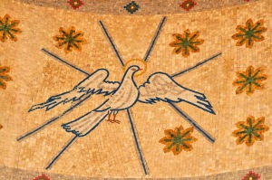 Holy Spirit as a dove -  Orthodox Church mosaic