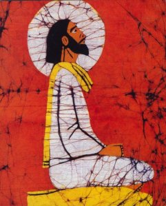 meditating Jesus - unknown artist