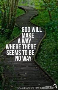 God making a way