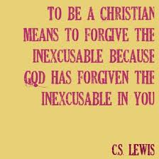 FORGIVE God forgives the unexcusable