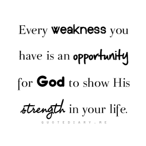 God's opportunity to show His strength. Psalm