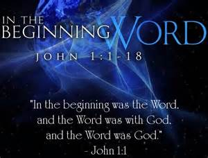 in the beginning was the Word - John 1
