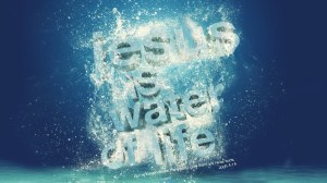 Jesus-is-the-water-of-life-in-a-water-background - John 4-14