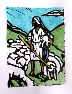 Jesus the Good Shepherd  by fleetofgypsies