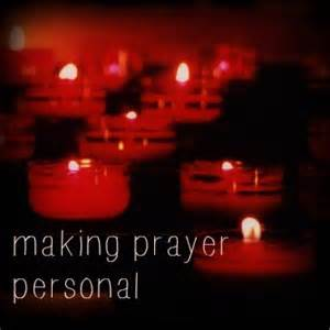 making prayer personal