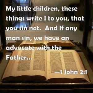 ADVOCATE 1 John 2-1 KJV
