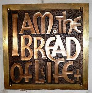 BREAD OF LIFE brass trivet