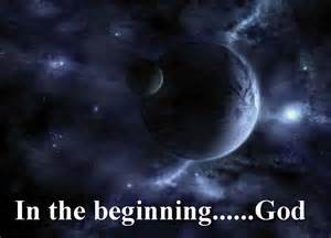 GOD in the beginning, God - grey