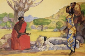 Jesus Mafa, Woman at the-Well, Unknown African artist