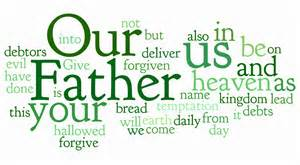 Lord's Prayer word cloud Matt 6