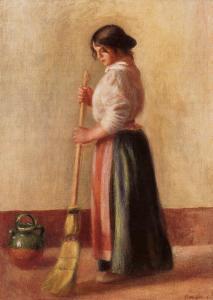 The Sweeper -  Pierre-Auguste Renoir (1889)