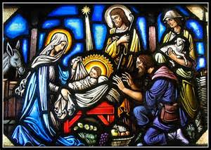 Christmas stained glass Luke 2