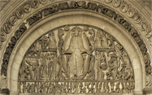 Second coming, Autun Cathedral  (Giselbertus, 12th century)