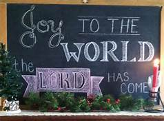joy to the world blackboard