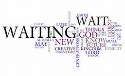 waiting Advent word cloud
