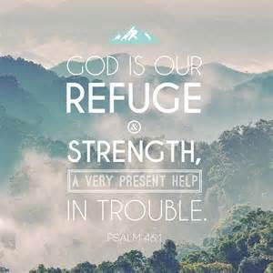 God refuge and strength Ps 46-1