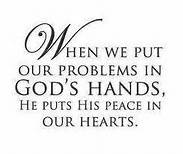 God's peace in us, problems to God