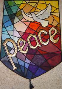 peace, dove stained glass