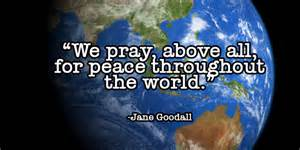 peace throughout the world - Jane Goodall