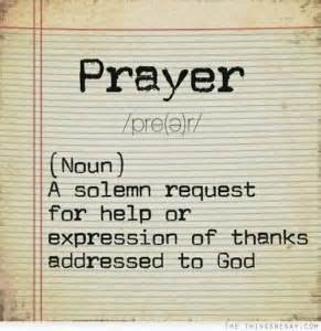 definition of prayer