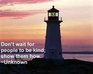 don't wait for people to be kind - show them