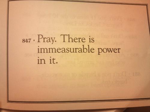 immeasurable prayer power