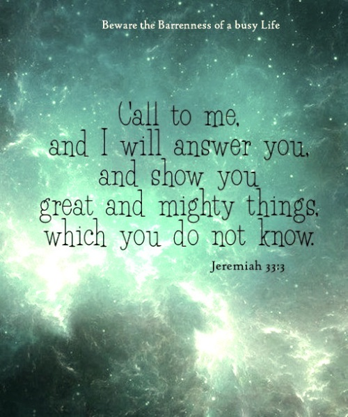 Call to Me - Jeremiah-33-3