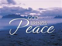 God brings peace
