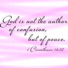 God the author of peace