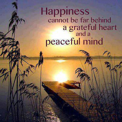 happiness, grateful, peaceful