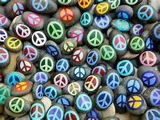 peace sign stones